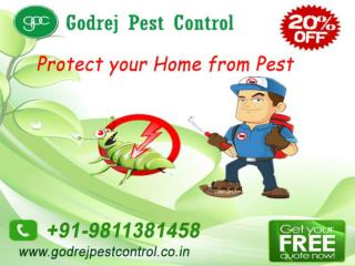 Flat 20% off on pest control Faridabad by GPC