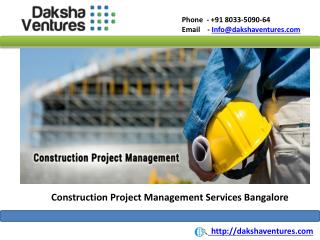 Construction Project Management Services Bangalore