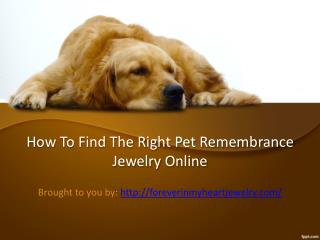 How to Find the Right Pet Remembrance Jewelry Online