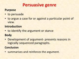 Persuasive genre
