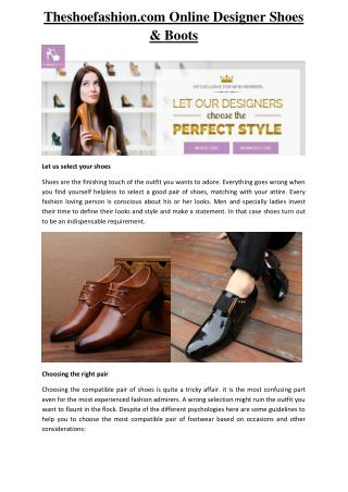 Theshoefashion.com | The shoe fashion Perfect Luxurious Footwear