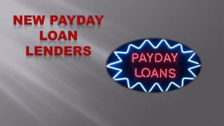 New Payday Loan Lenders
