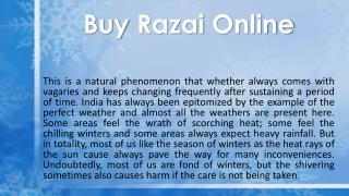Buy Razai Online