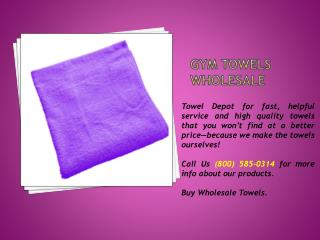 Gym Towels Wholesale