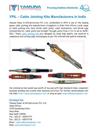 Power Cable Jointing kits Manufacturers In India