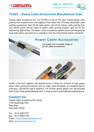 Power Cable Accessories Manufacturer In India