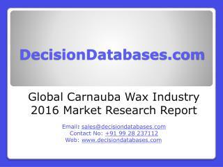 Global Carnauba Wax Market 2016