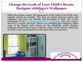Change the Look of Your Child's Room: Designer Children's Wallpaper