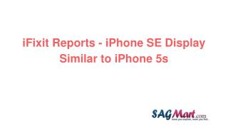 I fixit reports   iphone se display similar to iphone 5s