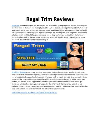 Regal Trim Review - 100% Natural Regal Trim