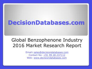 Global Benzophenone Market Forecasts to 2021