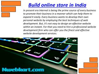 Build your Online store