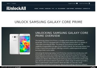Unlock Samsung Galaxy Core Prime with iUnlockAll