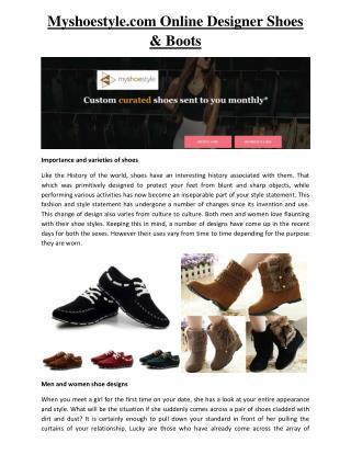 My Shoe Style | Myshoestyle (Myshoestyle.com)