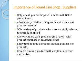 Importance of Clearance King Pound Line Shop Suppliers