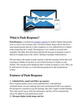 Push Response Review - Smart Marketing Tool