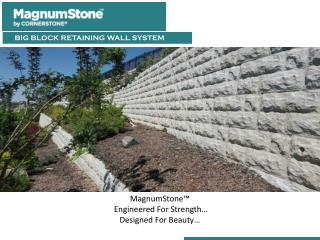 MagnumStone Retaining Wall Water Applications