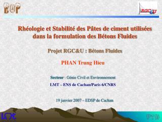 PHAN Trung Hieu  Secteur : G nie Civil et Environnement LMT   ENS de Cachan