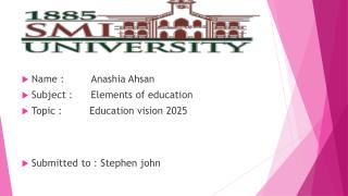 education vision 2025