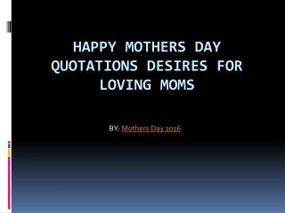 2016 Mothers Day Quotes
