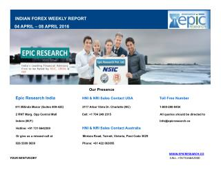 Epic Research Weekly Forex Report 04 April 2016