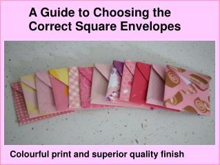 Buy Square Envelopes UK