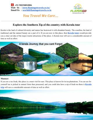 Top 4 Destinations that you must Include In Your Kerala Tour