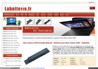 DELL Vostro 3700 Portable Batterie