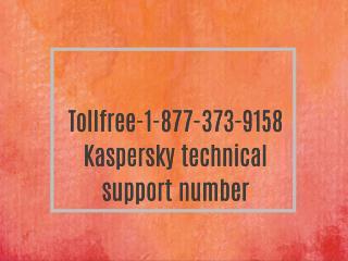 Tollfree-1-877-373-9158 Kaspersky free customer service