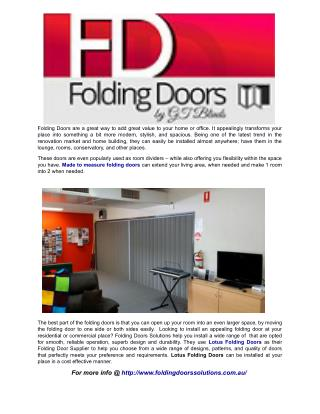 What Are The Benefits Of Using Folding Doors