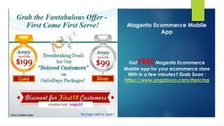 Magento Ecommerce Mobile app