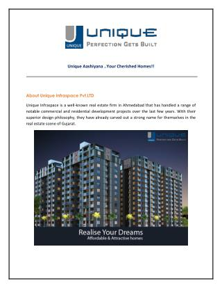 Unique Aashiyana - 1 and 2 BHK Flats in Gota Ahmedabad
