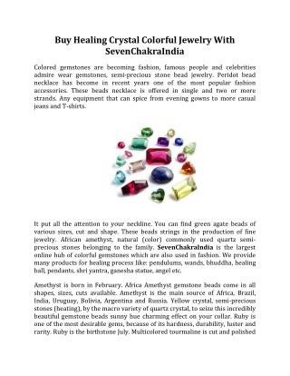 Buy Healing Crystal Colorful Jewelry With SevenChakraIndia