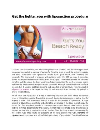 Best Liposuction Surgery in Italy