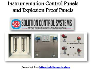 Instrumentation Control Panels and Explosion Proof Panels Online in Canada