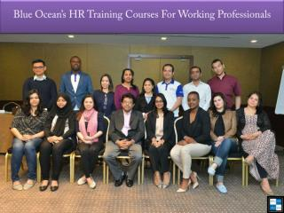 Blue Ocean's HR Training Courses For Working Professionals