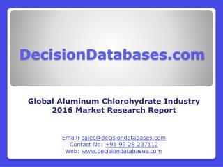 Aluminum Chlorohydrate Market Analysis 2016 Development Trends