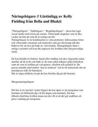 Näringsbägare // Gästinlägg av Kelly Fielding från Bella and Bhakti