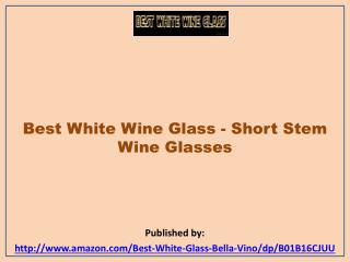 Best White Wine Glass - Short Stem Wine Glasses