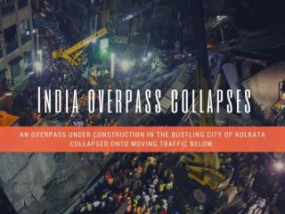 India overpass collapses