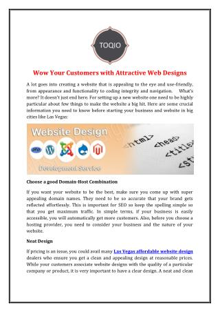 Wow Your Customers with Attractive Web Designs
