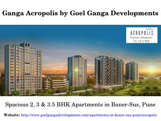 Spacious 2, 3 & 3.5 BHK Residential Flats in Baner-Sus Pune for Sale