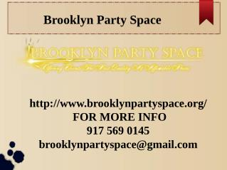 Elegant Party Venues in Brooklyn