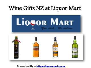 Wine Gifts NZ Online at Liquor Mart