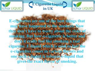 Blended Tobacco Liquid | Ichor Liquid