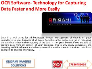 OCR Software- Technology for Capturing Data Faster and More Easily