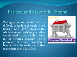 Moveby5th Packers and Movers In Chennai- Customized relocation products service