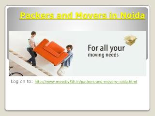 Moveby5th  Packers and Movers In Noida  CUSTOMIZED SHIFTING SERVICES