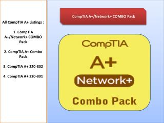 CompTIA A  Combo Pack Courses
