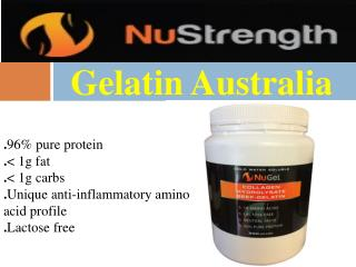 Get Great Deals On Gelatin Australia